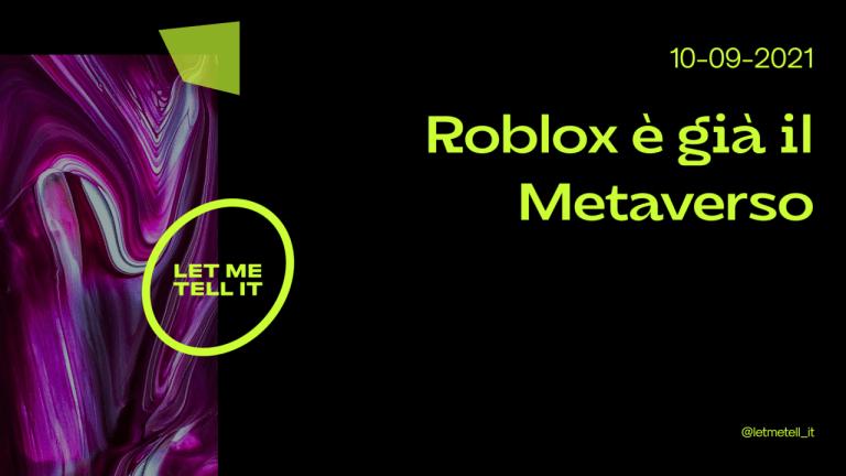 roblox e metaverso