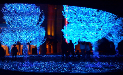 Another holiday light show in Hong Kong