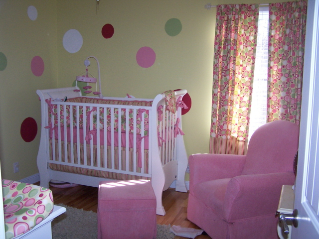 submitted by Candice B. of her last daughter's nursery.