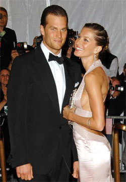 Photo: Tom Brady arrives with wife Gisele Bundchen at the Metropolitan Museum of Art's Costume Institute Gala in New York last year. Credit: Evan Agostini / Associated Press