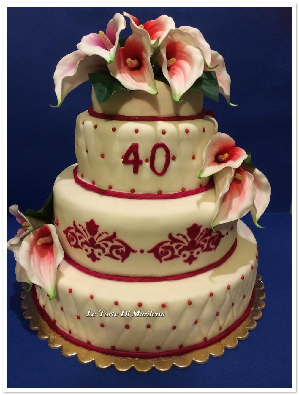 40ESIMO COMPLEANNO DONNA  Le Torte di Marilena