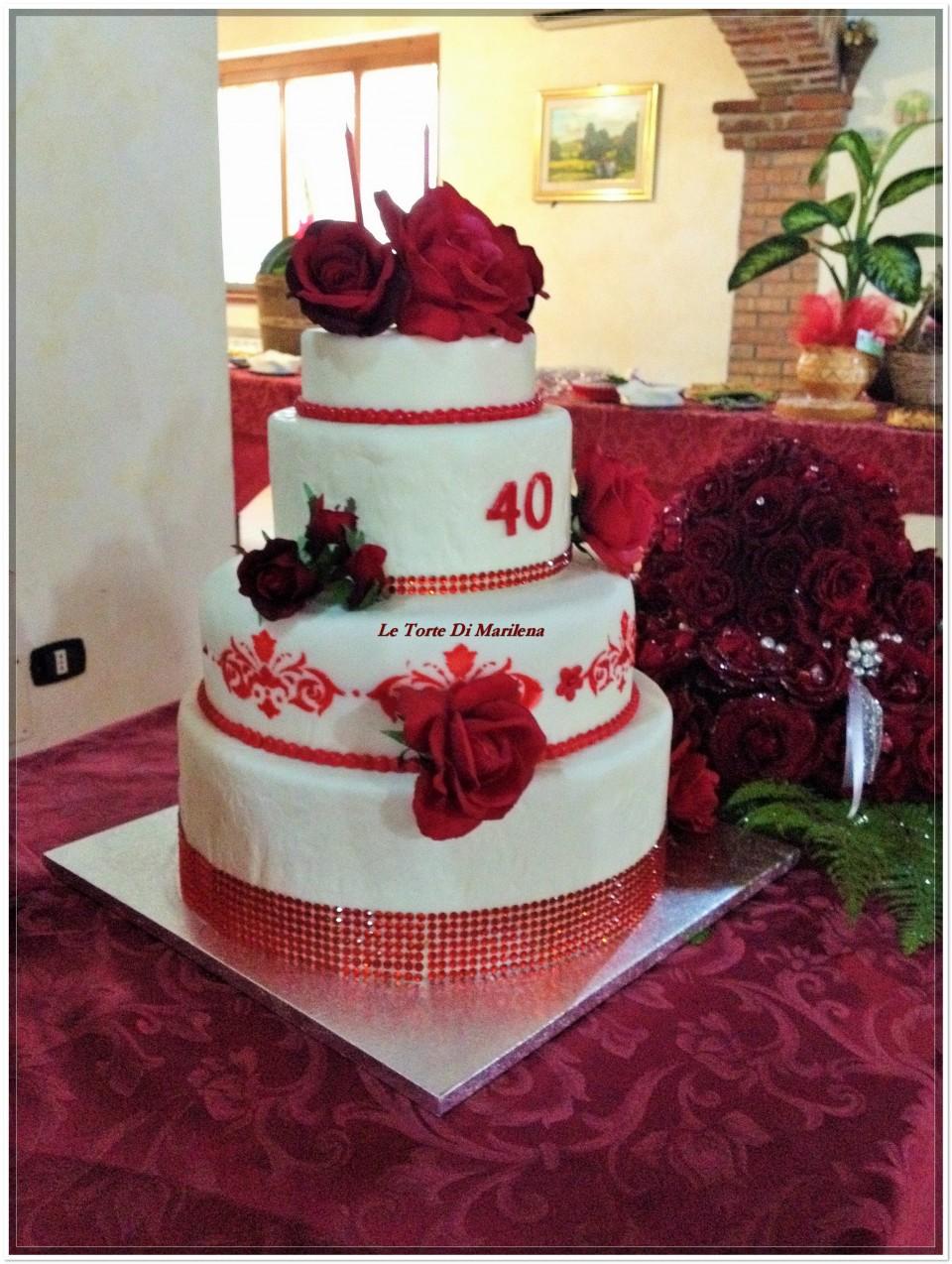 TORTA 40ESIMO COMPLEANNO DONNA  Le Torte di Marilena