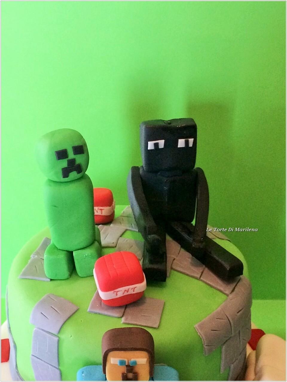TORTA MINECRAFT  Le Torte di Marilena