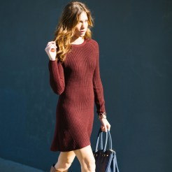 Sweater dresses are better when they're the Pantone Color of the Year.