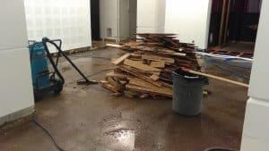 Plancher inondation theatre