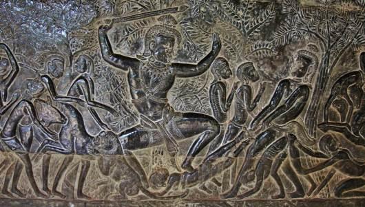 Temple Angkor fresque