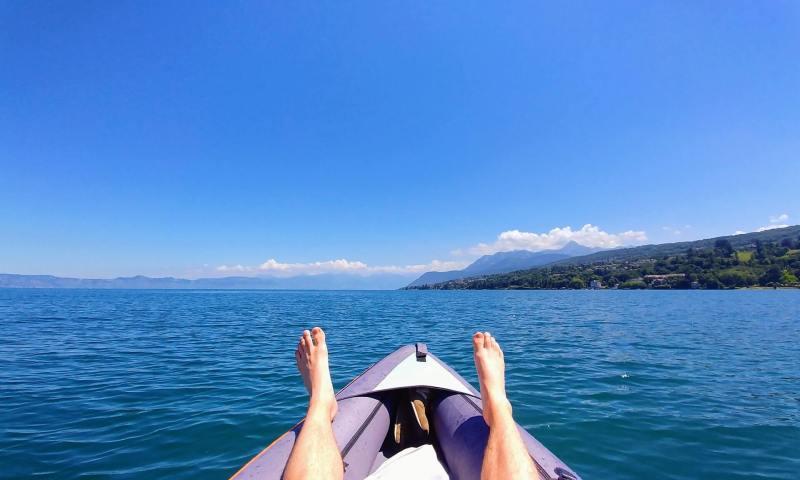 kayak lac leman