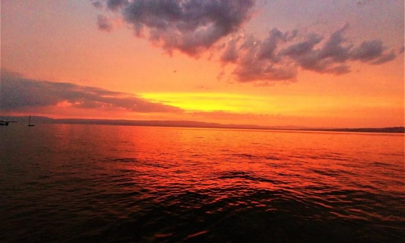 coucher soleil Lac Leman
