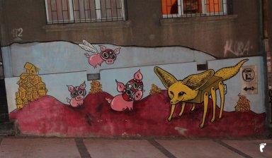 Fenec Street Art Valparaiso