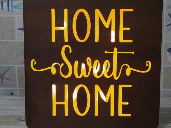 Caja de luz-Home Sweet Home