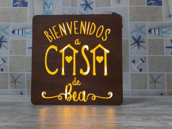 Caja de luz – Bienvenidos a casa