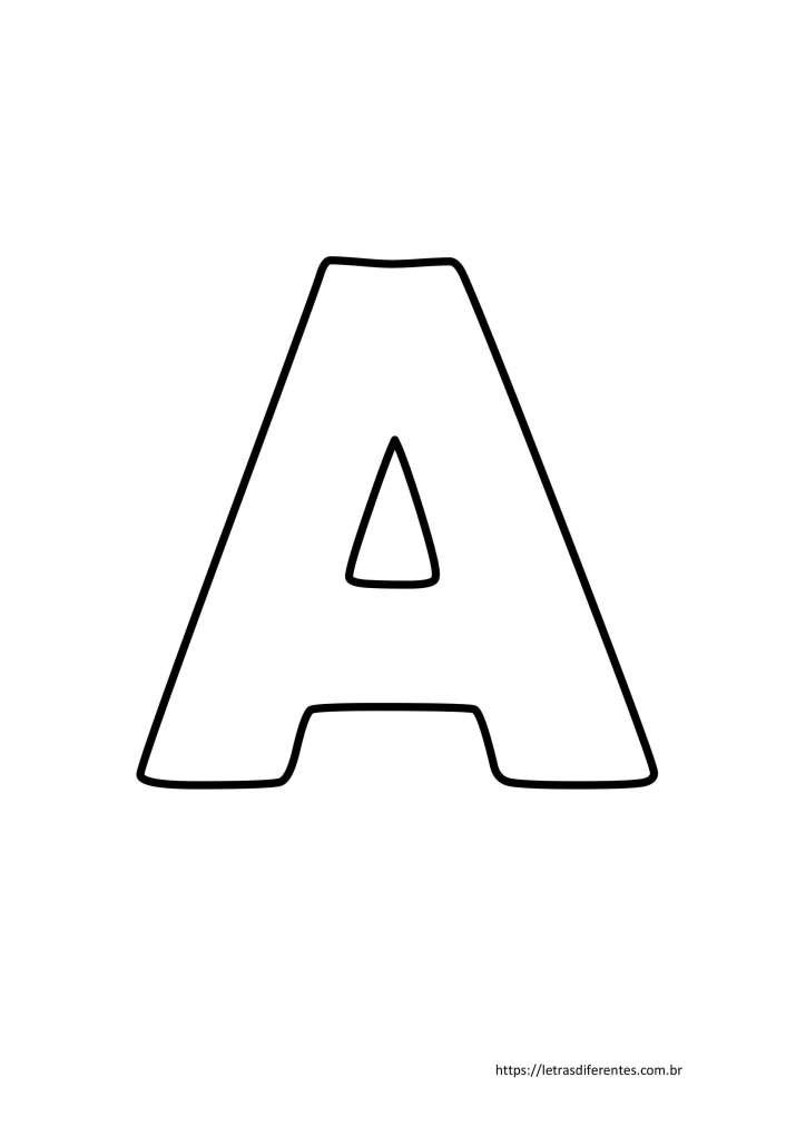 Letra A para imprimir grátis, moldes de letras