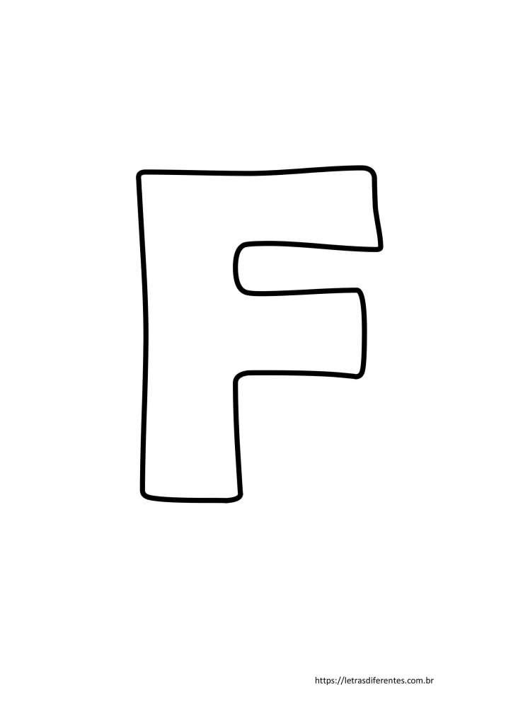 Letra F para imprimir grátis, moldes de letras