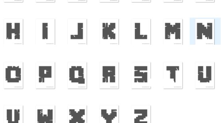 alfabeto letras minecraft para imprimir