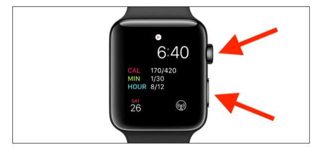 forçar a reinicialização do Apple Watch
