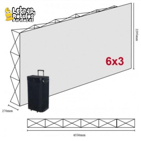 Pop Up 6x3 (455x230cm)