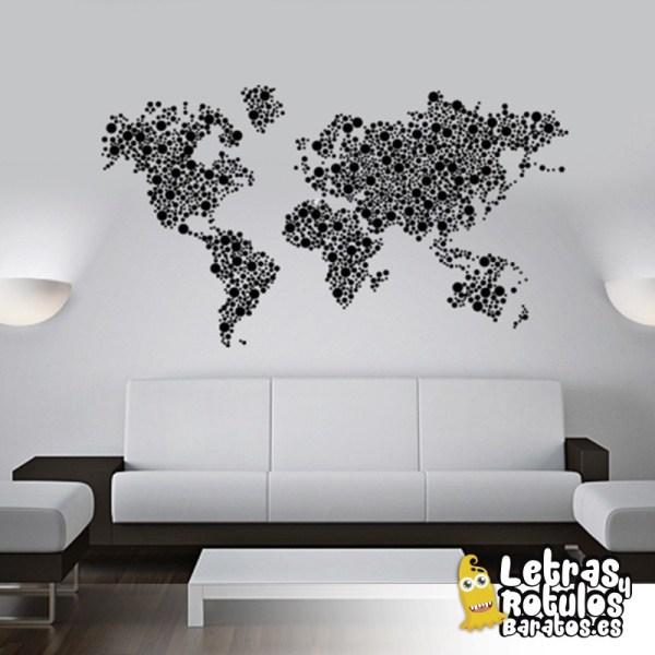 Mapamundi en círculos