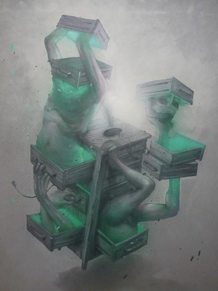 Le Magicien Ose 'Le Meuble' | 97 x 130 cm | Spray paint on canvas | 2013