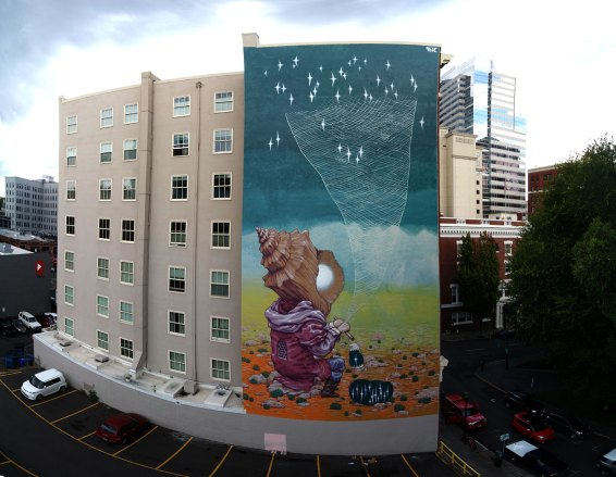 Mural in Portland, Oregon USA 2015