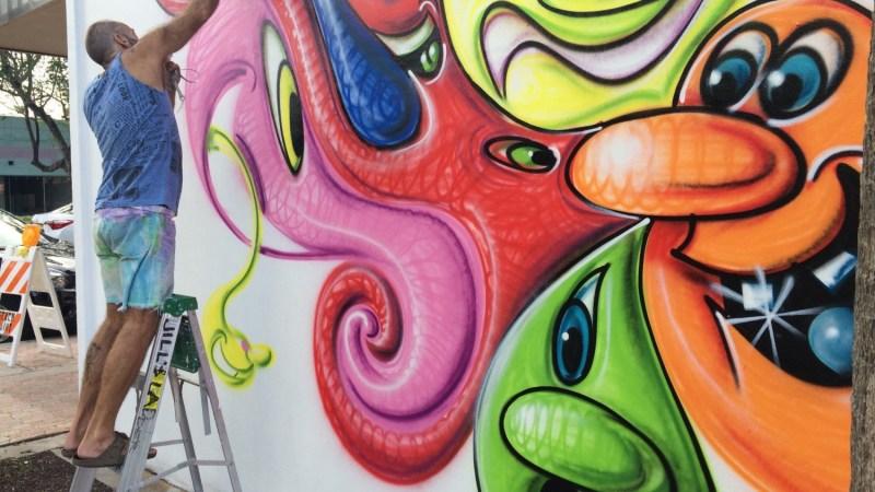 Proyecto Mural En El Centro De Hollywood Letra Urbana