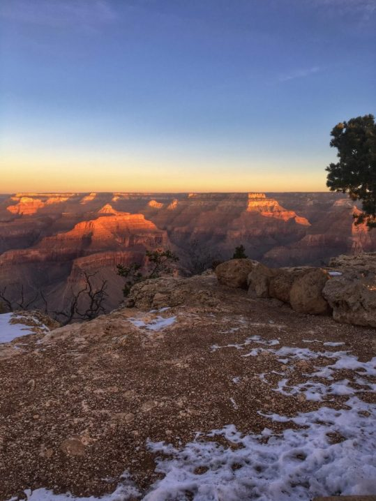 Sunrise at the Grand Canyon South Rim