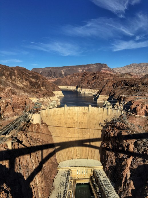 View of the Hoover Dam from the bridge