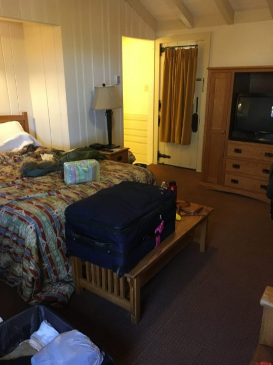 Inside our cabin at the Bright Angel Lodge at the Grand Canyon