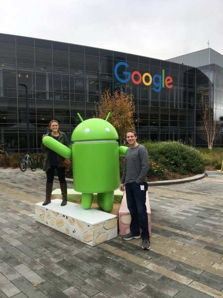 Lauryn and Eric at Google in California