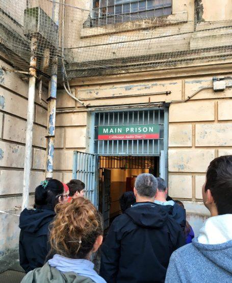 Entrance to Alcatraz prison in San Francisco