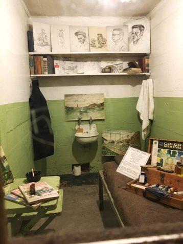 Inside a cell at Alcatraz prison