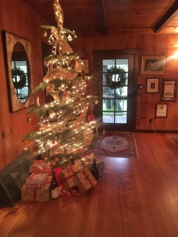 Christmas tree at Failla winery in Napa California