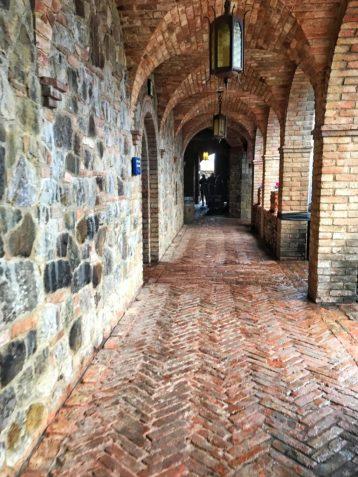 Hallway inside Castello di Amorosa in Napa California