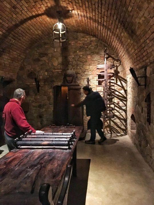 Torture chamber Inside Castello di Amorosa in Napa California