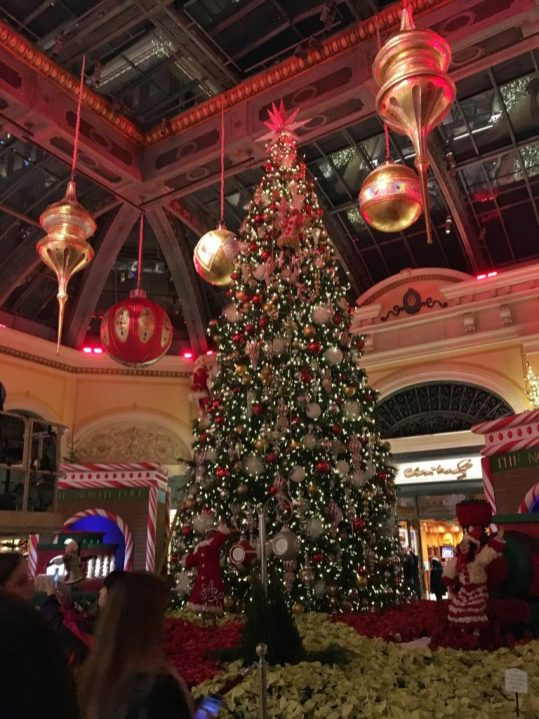 The Bellagio Hotel in Las Vegas at Christmas
