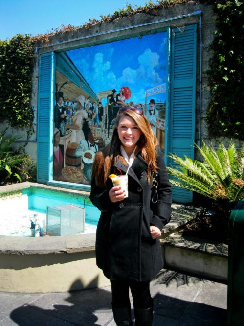 Drinking a pina colada in New Orleans Louisiana