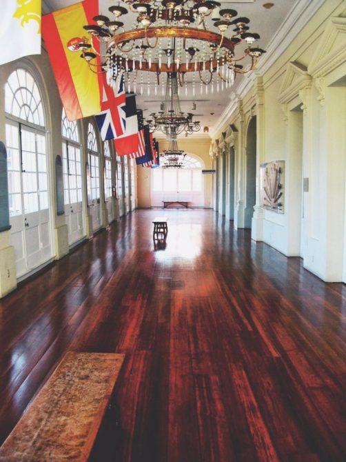 Photo of the hallway inside the Cabildo in New Orleans