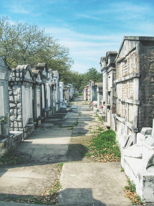Above ground graveyard in New Orleans
