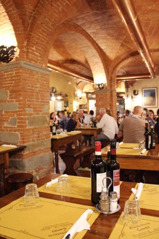 Inside the Italian restaurant we visited in Florence