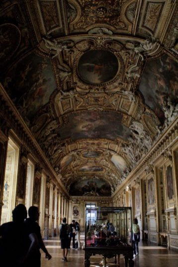 Painted hallway at the Louvre Museum in Paris France