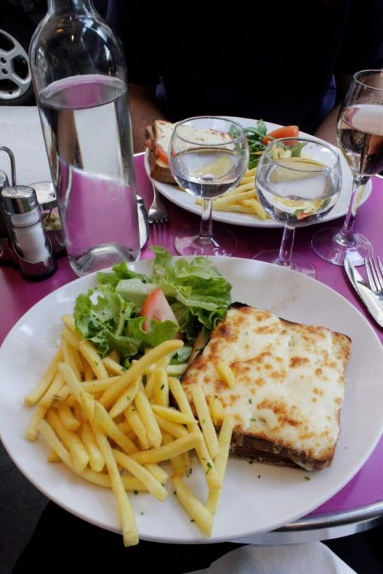 Eating lunch at a cafe in Paris France