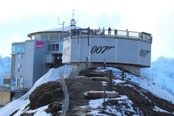 View of the platform at the Schilthorn in Switzerland