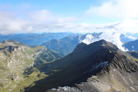 View from the Schilthorn in Switzerland