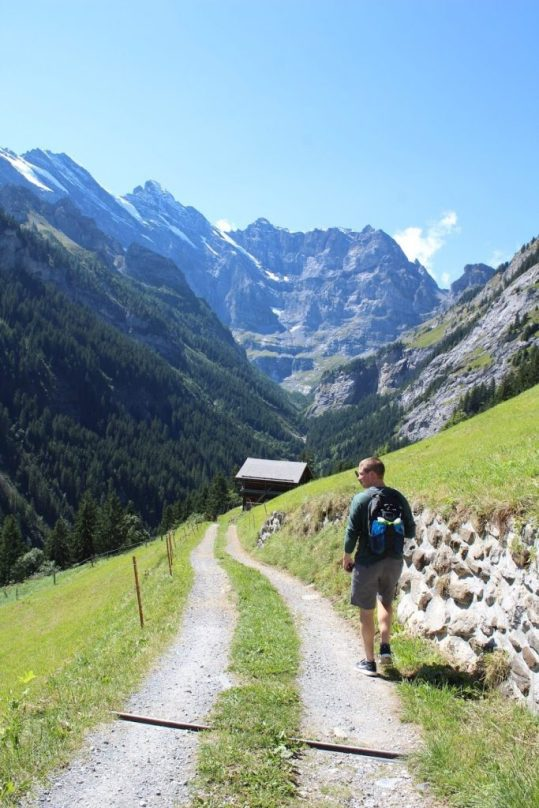 Hiking in Gimmelwald Switzerland