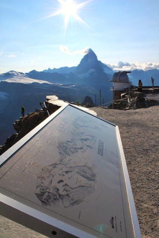 View of the Matterhorn at the Gornergrat in Zermatt, Switzerland