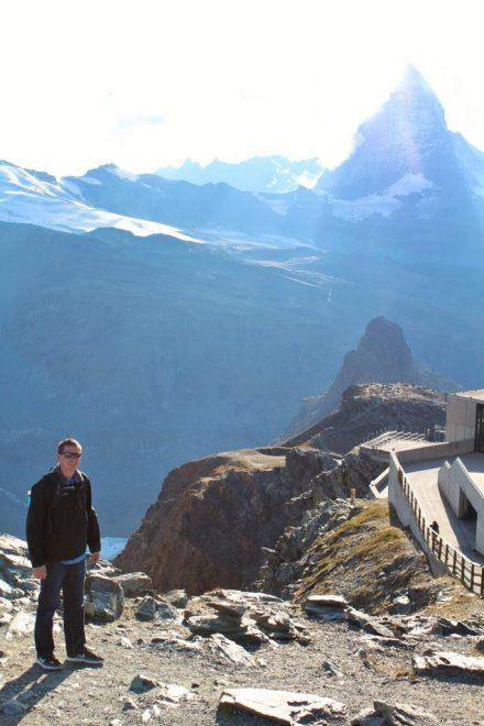 Eric in front of the Matterhorn at the Gornergrat in Zermatt, Switzerland