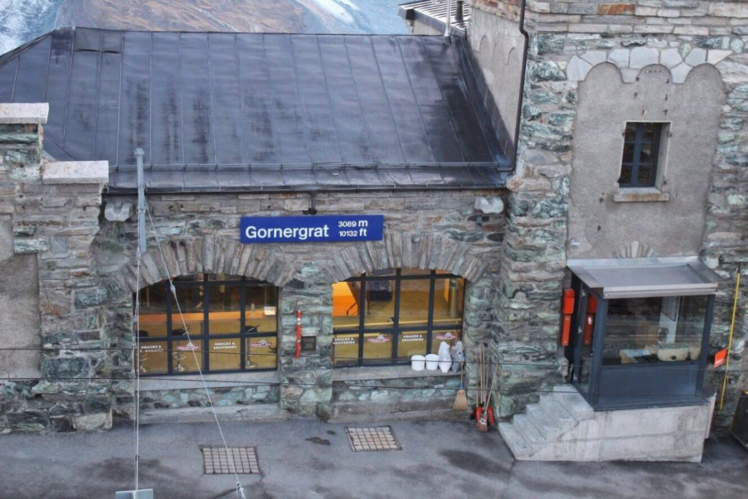 Gornergrat train station in Zermatt Switzerland