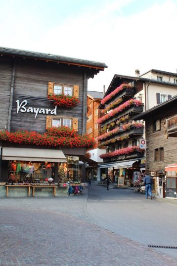 The town of Zermatt, Switzerland