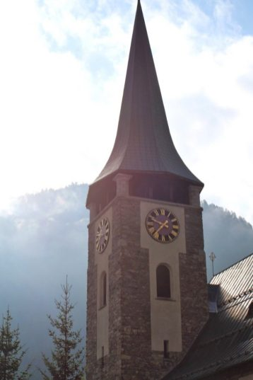 Cathedral in The town of Zermatt, Switzerland