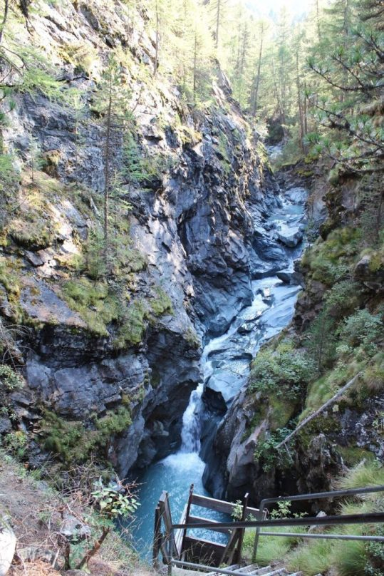 Gorner Gorge in Zermatt, Switzerland