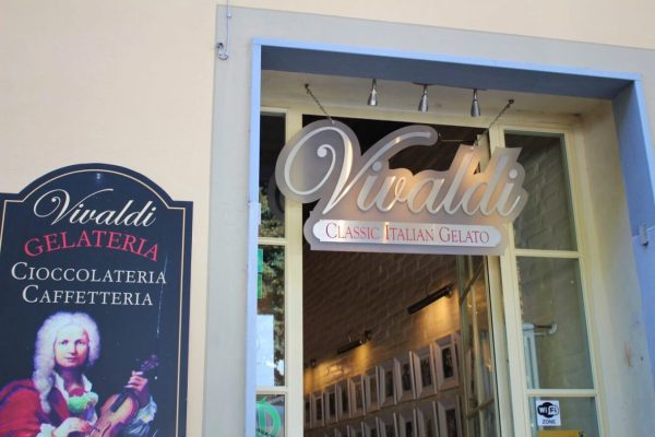 Vivaldi gelato shop in Florence Italy